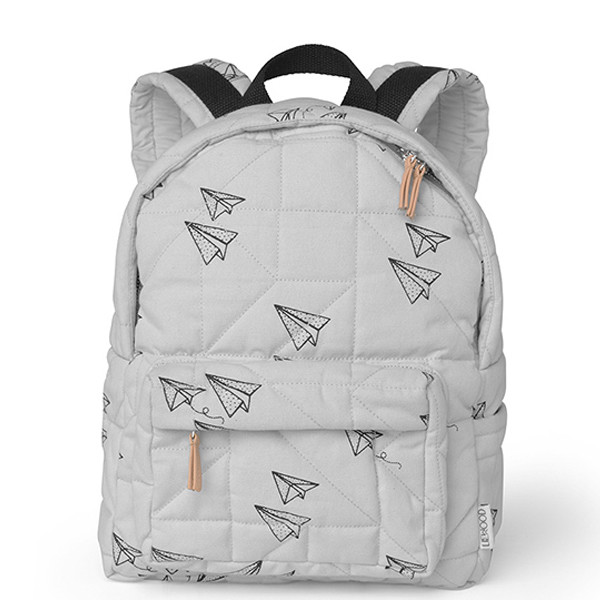Liewood Back Pack, Paper Plane & Dumbo Grey