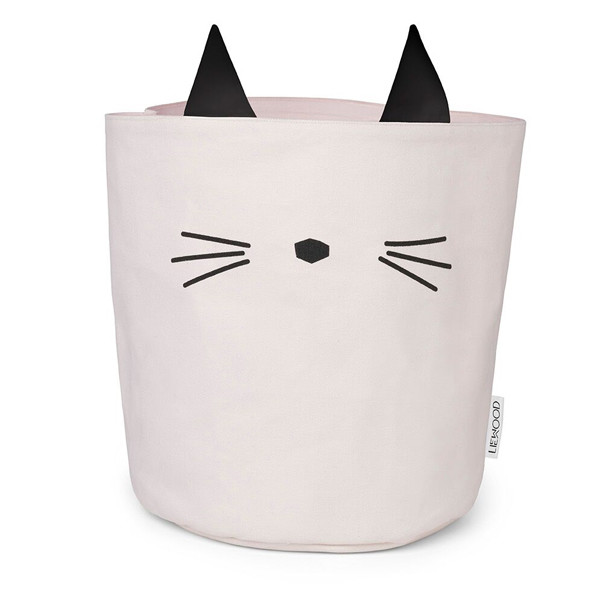 Liewood Fabric Basket Cat, Sweet Rose