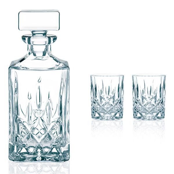 Nachtmann Noblesse Whisky karaffel med 2 whisky glas