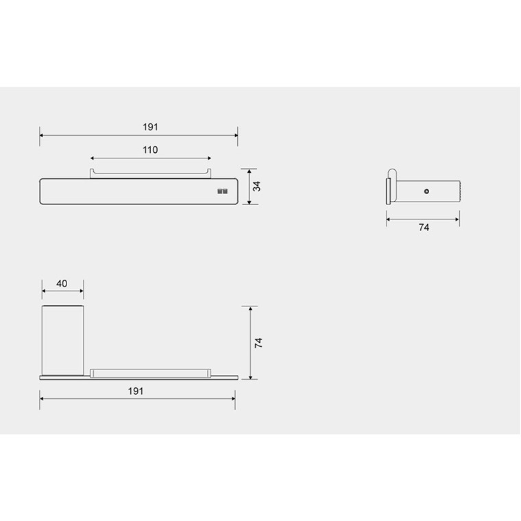 Unidrain Reframe toiletrulleholder, børstet stål
