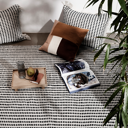 Ferm Living Ripple karaffel sæt i Smoked Grey