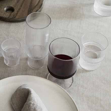 Ferm Living Ripple Small Glas, 4 Stk.