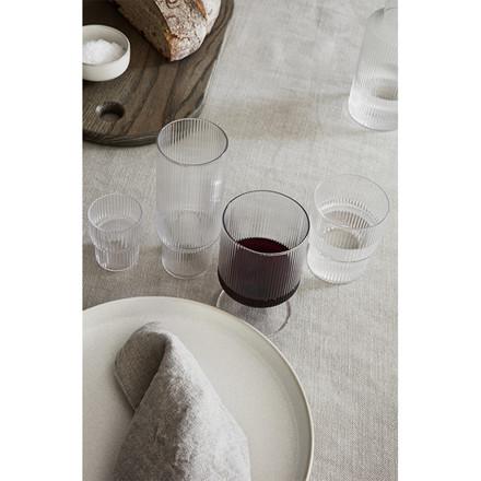 Ferm Living Ripple vin glas, 2 stk.