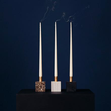 New Works Block Candle holder lysestage i sort