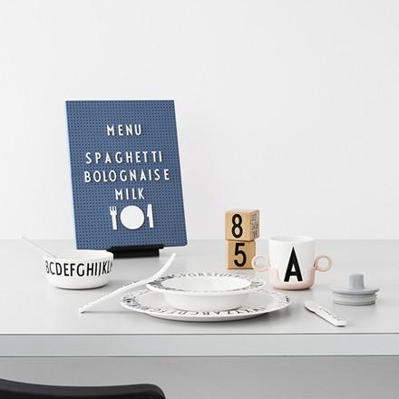Design Letters melamin middagstallerken