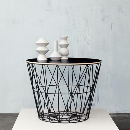Ferm Living Wire Basket, Sort