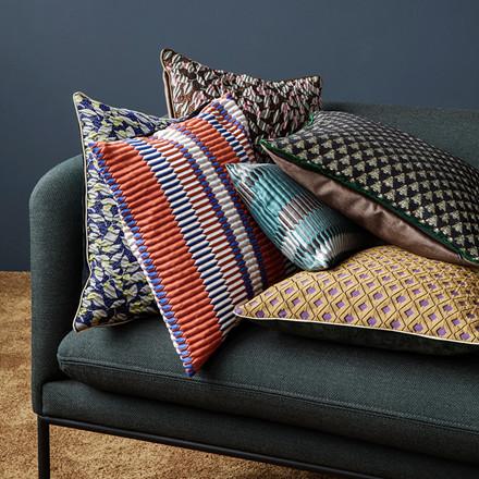 Ferm Living Salon Cushion, Flower Blue