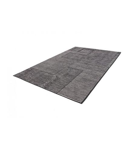 Tom Dixon Stripe Rug Rectangular, gulvtæppe i sort/hvid