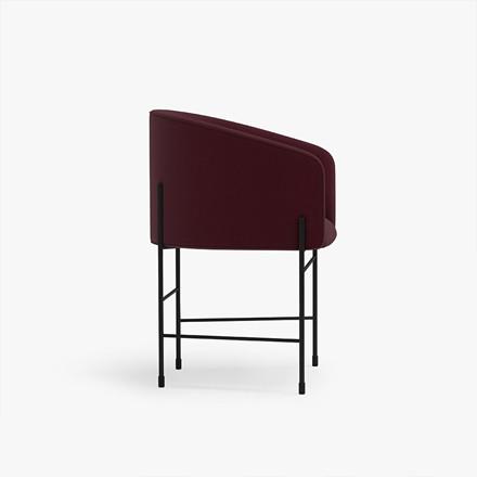 New Works Covert Chair spisestol, bordeauxrød