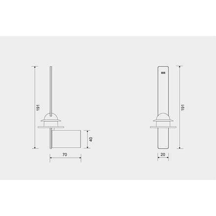 Unidrain Reframe toiletrulleholder t/reserve, messing