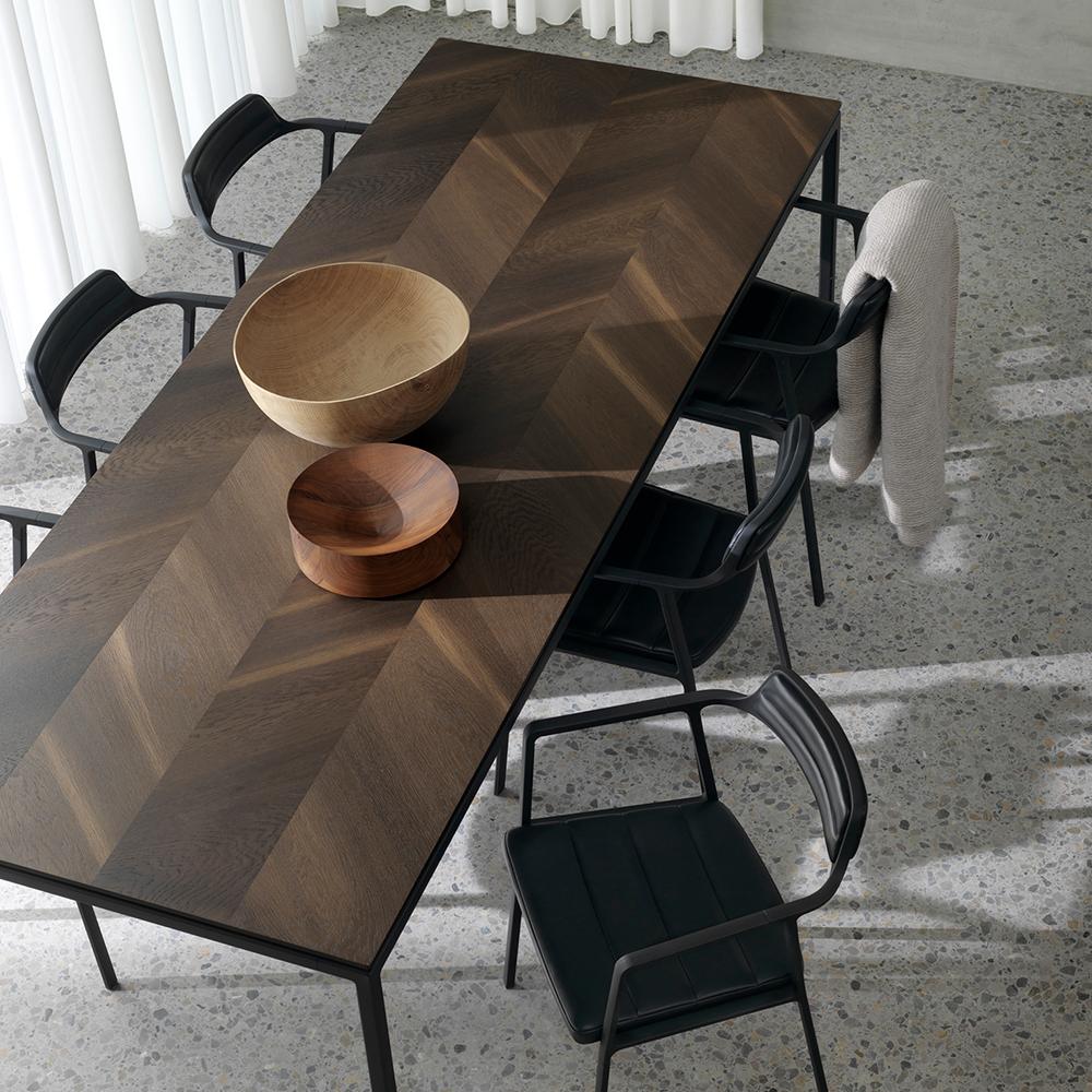 Godt Vipp 971 / Vipp 972 spisebord m/ bordplade i røget eg NY73