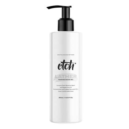Etch Foaming Shave Gel, Leather - 250 ml