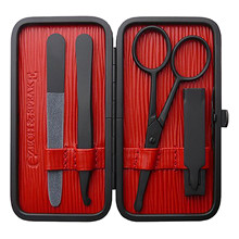 Czech&Speake Air Safe Manicure Set Black and  Red