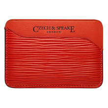 Czech&Speake Triple Card Holder in red leather