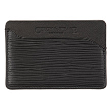 Czech&Speake Triple Card Holder in black leather