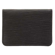 Czech&Speake Foldable Card Holder in black leather