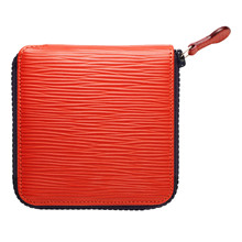 Czech&Speake Zip around Wallet in red leather