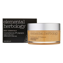 Elemental Herbology Macadamia & Papaya Body Scrub – 200 ml