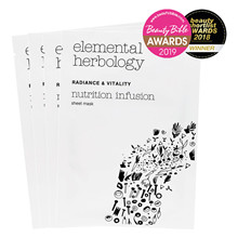 Elemental Herbology Nutrition Infusion Sheet Masks x 4