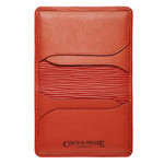 Czech&Speake Foldable Card Holder in red leather