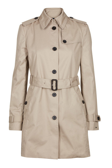 TOMMY HILFIGER HERITAGE SINGLE BREASTED TRENCH SAND