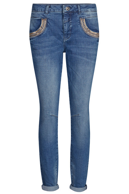MOS MOSH NAOMI SHINE SPLIT LONG 121771 BLÅ DENIM