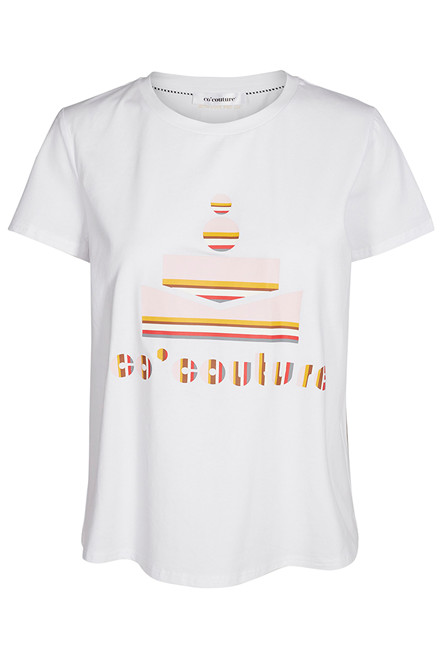 CO'COUTURE STRIPE TEE 73128 HVID