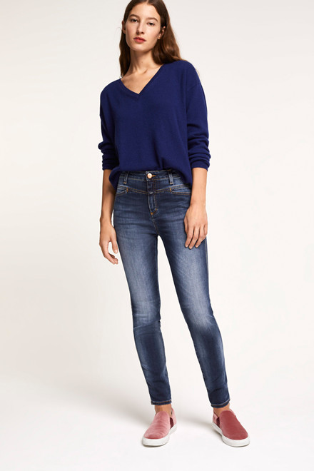 CLOSED SKINNY PUSHER C91231-08C-W7 BLÅ DENIM