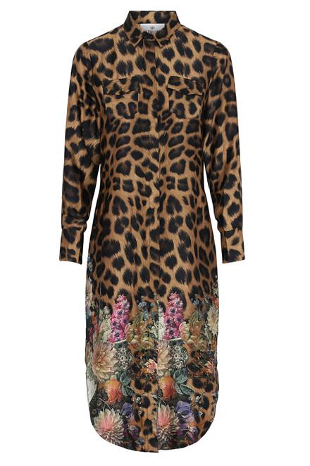 KARMAMIA HARPER DRESS FLOWER LEOPARD LEO