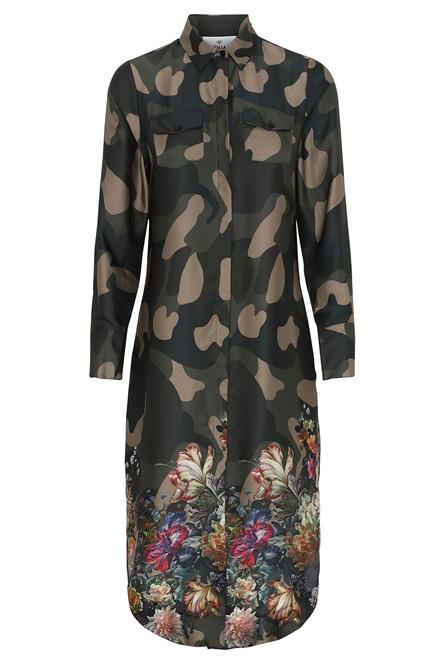 KARMAMIA HARPER DRESS FLOWER CAMOUFLAGE CAMOUFLAGE
