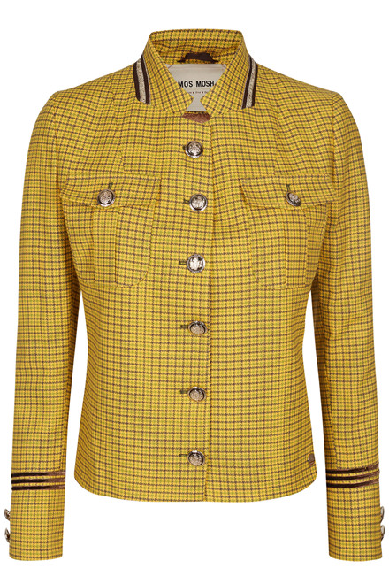 MOS MOSH SELBY CHECK JACKET 127130 LEMON