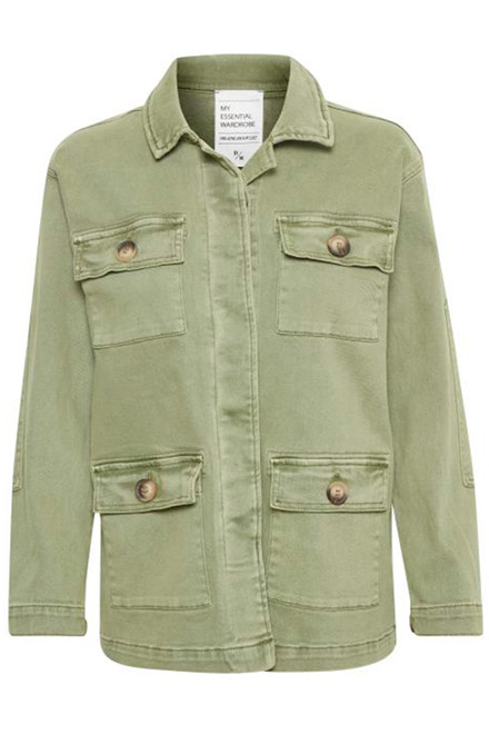 DENIM HUNTER 10702709 THE ARMY JACKET Dusty Olive