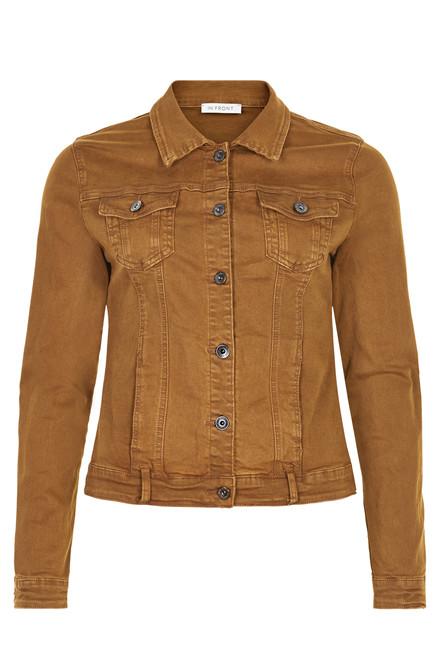 IN FRONT Isabelle Denim jacket 13617 COGNAC