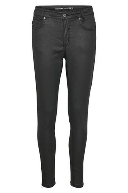 DENIM HUNTER Celina High Coated Zip Custom coated black