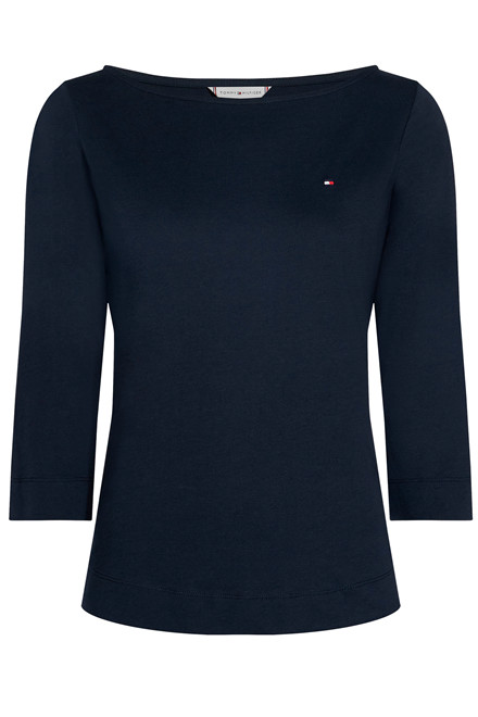 TOMMY HILFIGER BOAT NECK TEE 3/4 24846 Navy