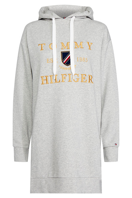 TOMMY HILFIGER KRISTAL HOODED TERRY 26383 LYSEGRÅ