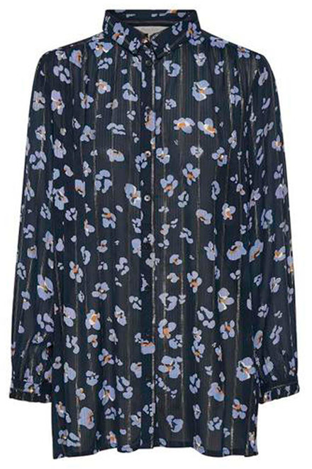 PART TWO 30304815 Leo pansy print, Dark Blue.