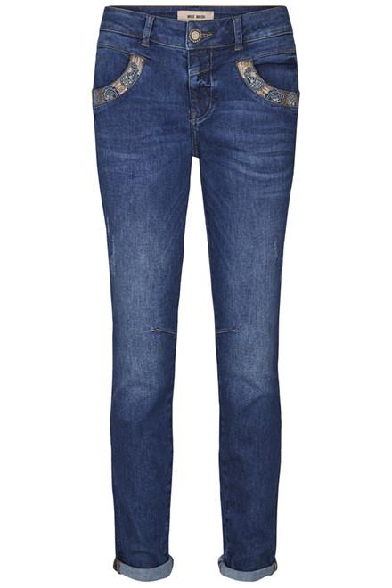 MOS MOSH Naomi Paisley Jeans 131490 DARK BLUE