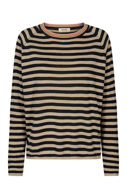 MOS MOSH Wyn Stripe Knit 131080 Black