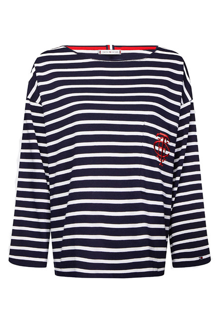 TOMMY HILFIGER TH ESSENTIAL BRETON 26786 Navy