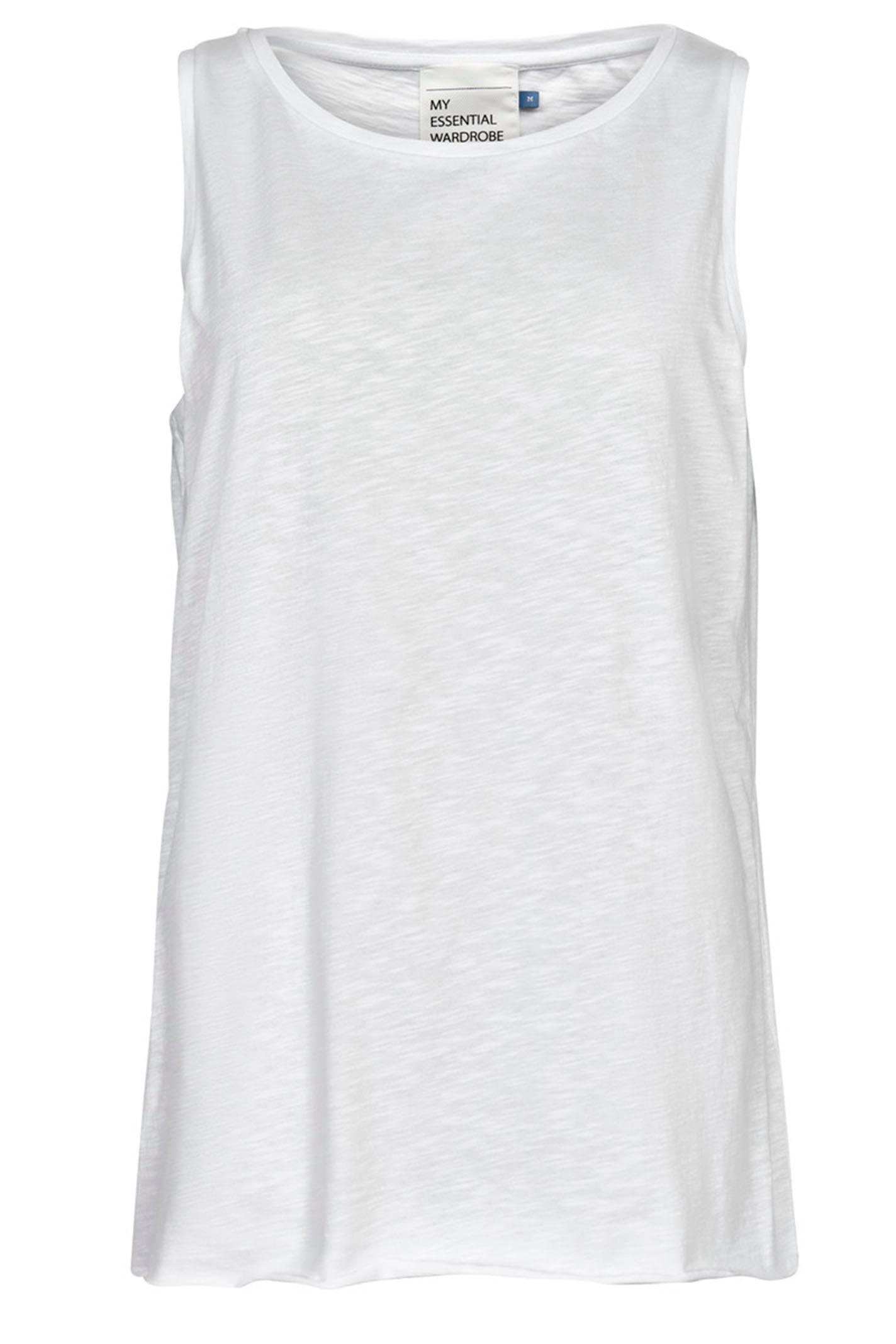DENIM HUNTER 10702679 THE TANK Slub Yarn Jersey Optical White