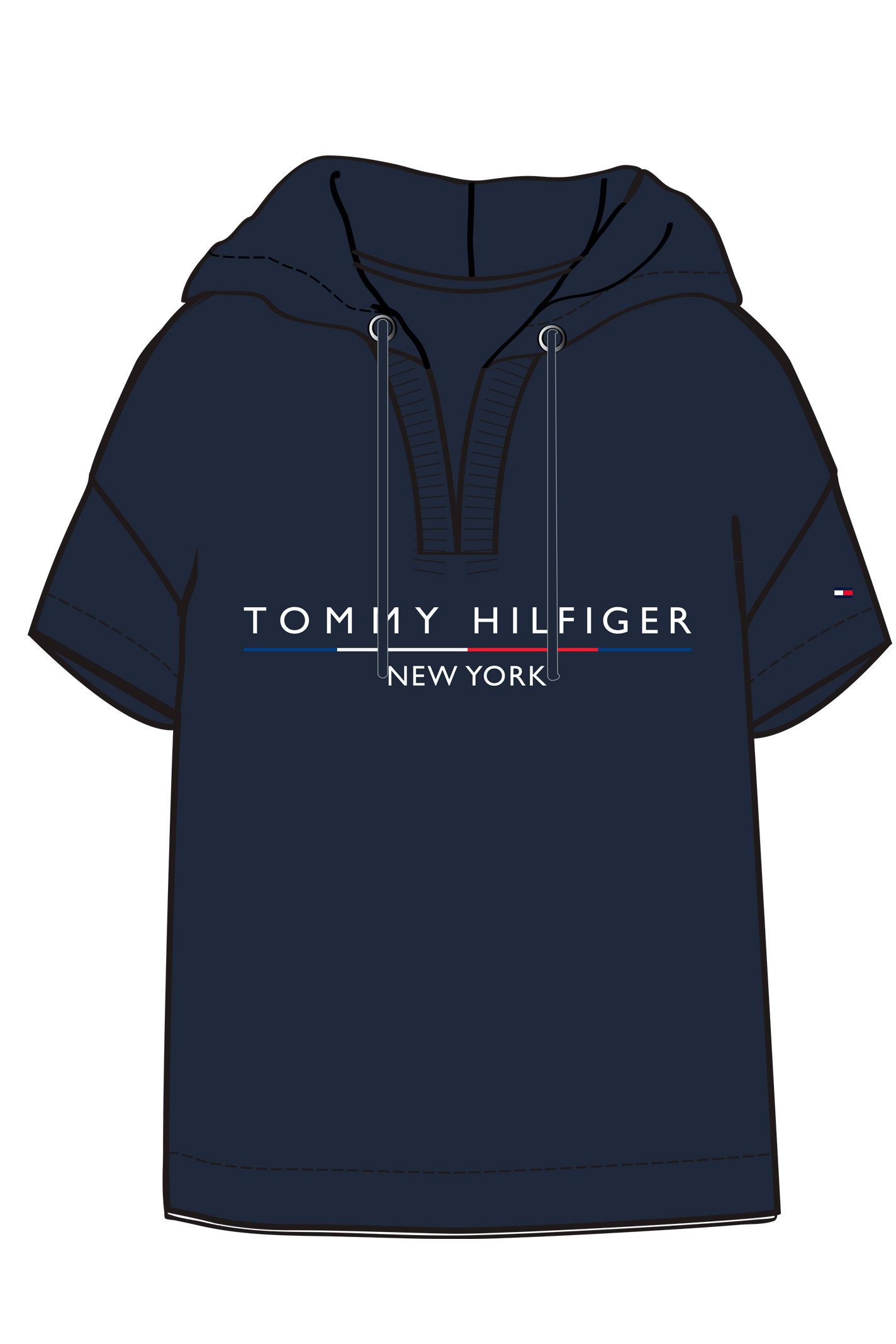 TOMMY HILFIGER CHARLOT HOODIE SS 26213 Navy