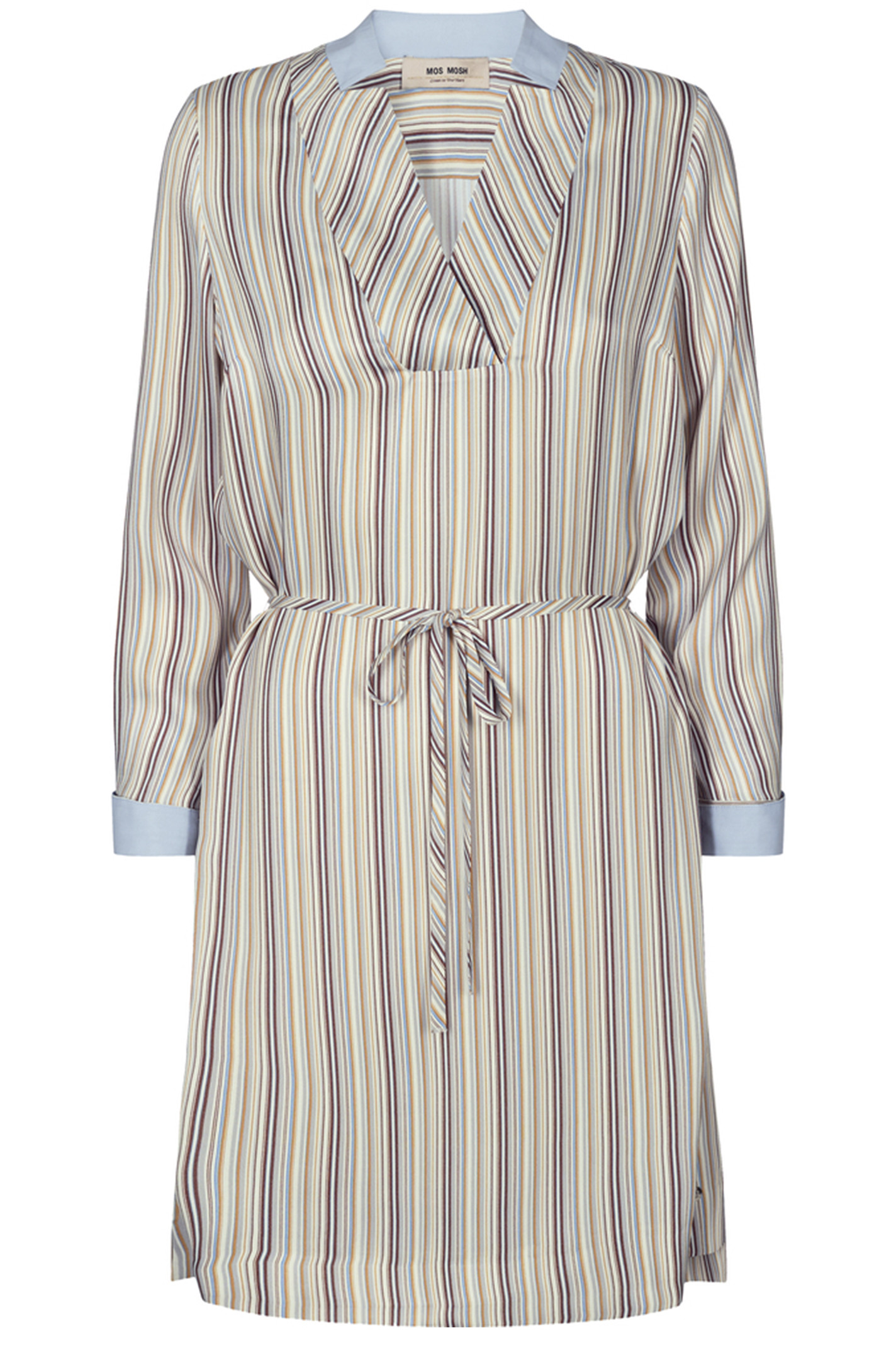 MOS MOSH 132281 LIPA RIVER DRESS Light Blue Stripe