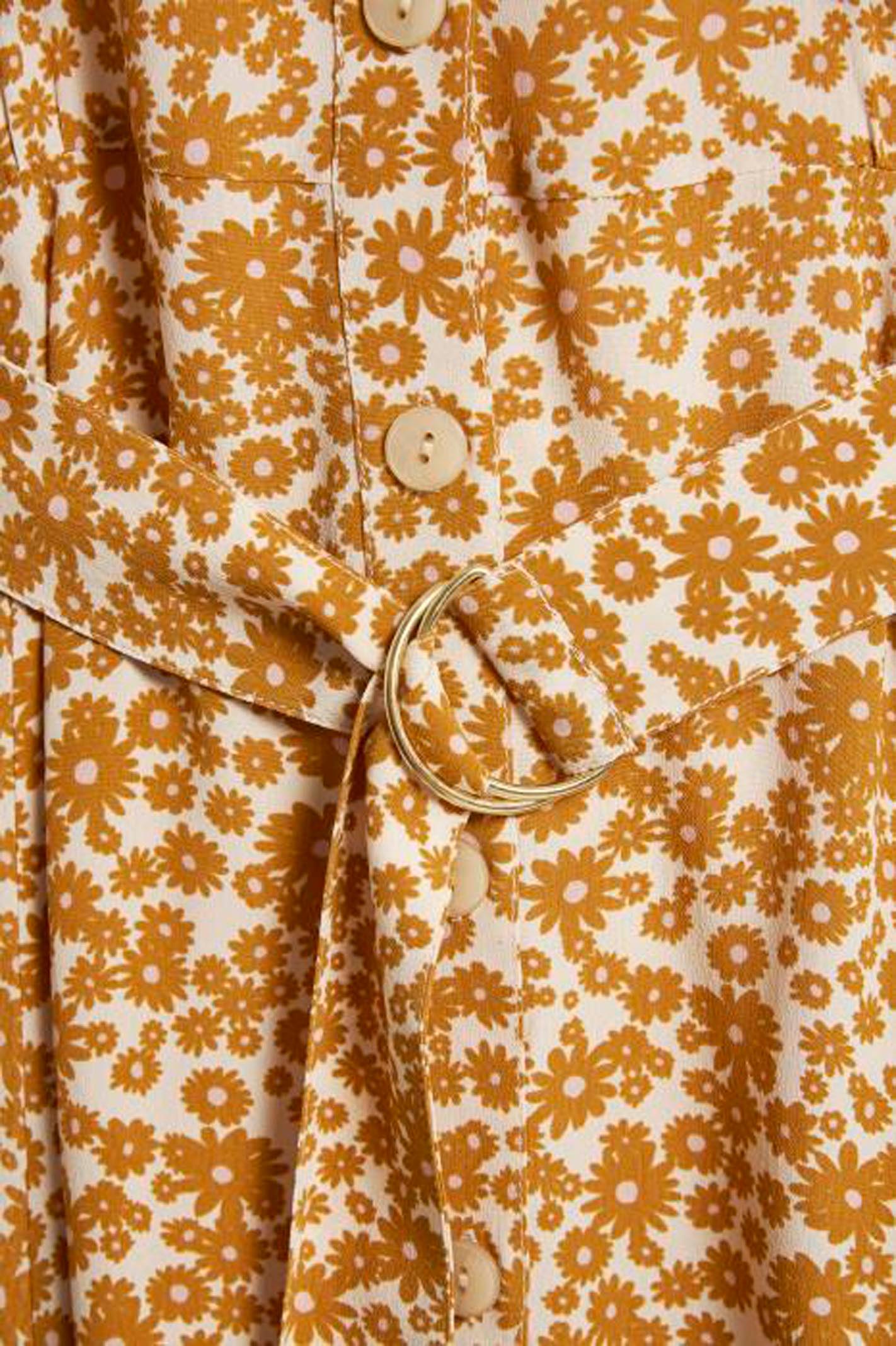 30305049 KJOLER Flower Print, Buckthorn Brown fra PART TWO.