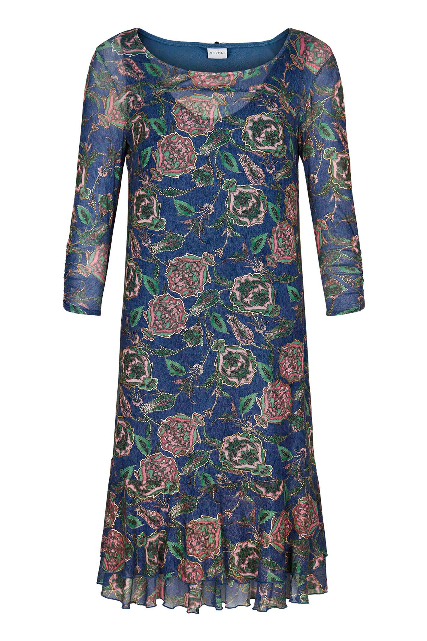 IN FRONT Lise dress 13879 Thunder blue