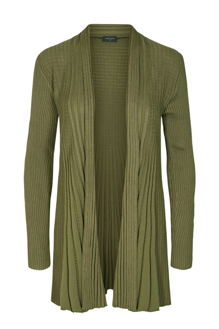 FreeQuent CLAUDISSE-L-CARDIGAN  Olive night