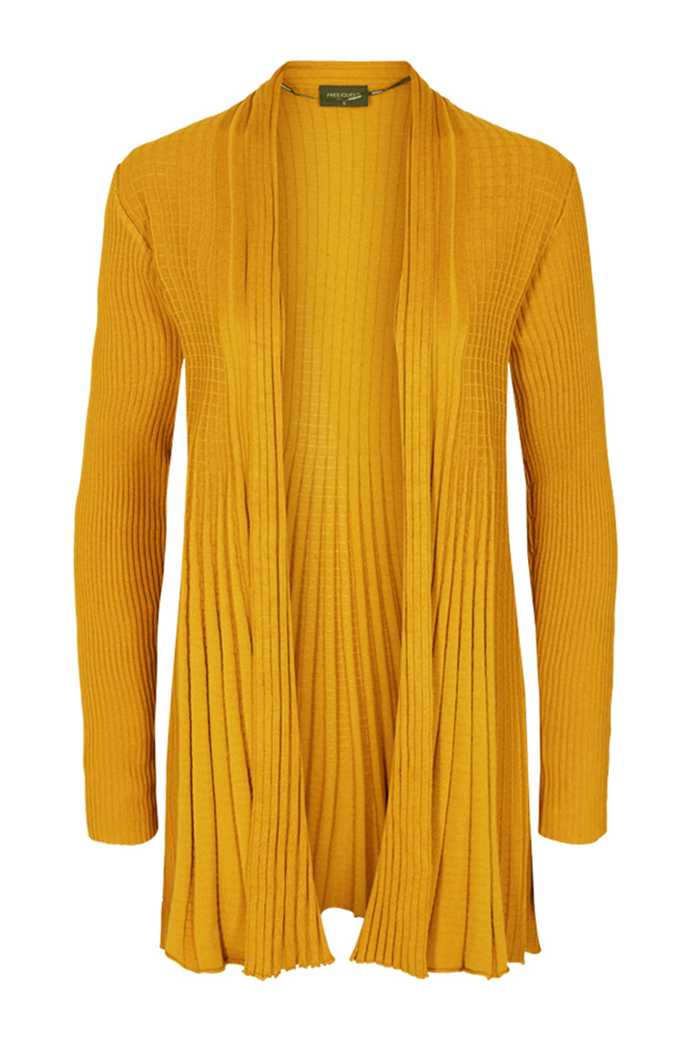 FreeQuent CLAUDISSE-L-CARDIGAN  Golden Yellow