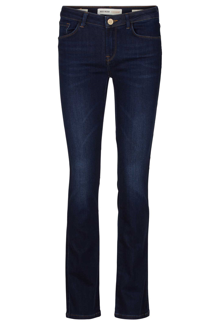 MOS MOSH ATHENA BOOT CUT 111471 BLÅ DENIM