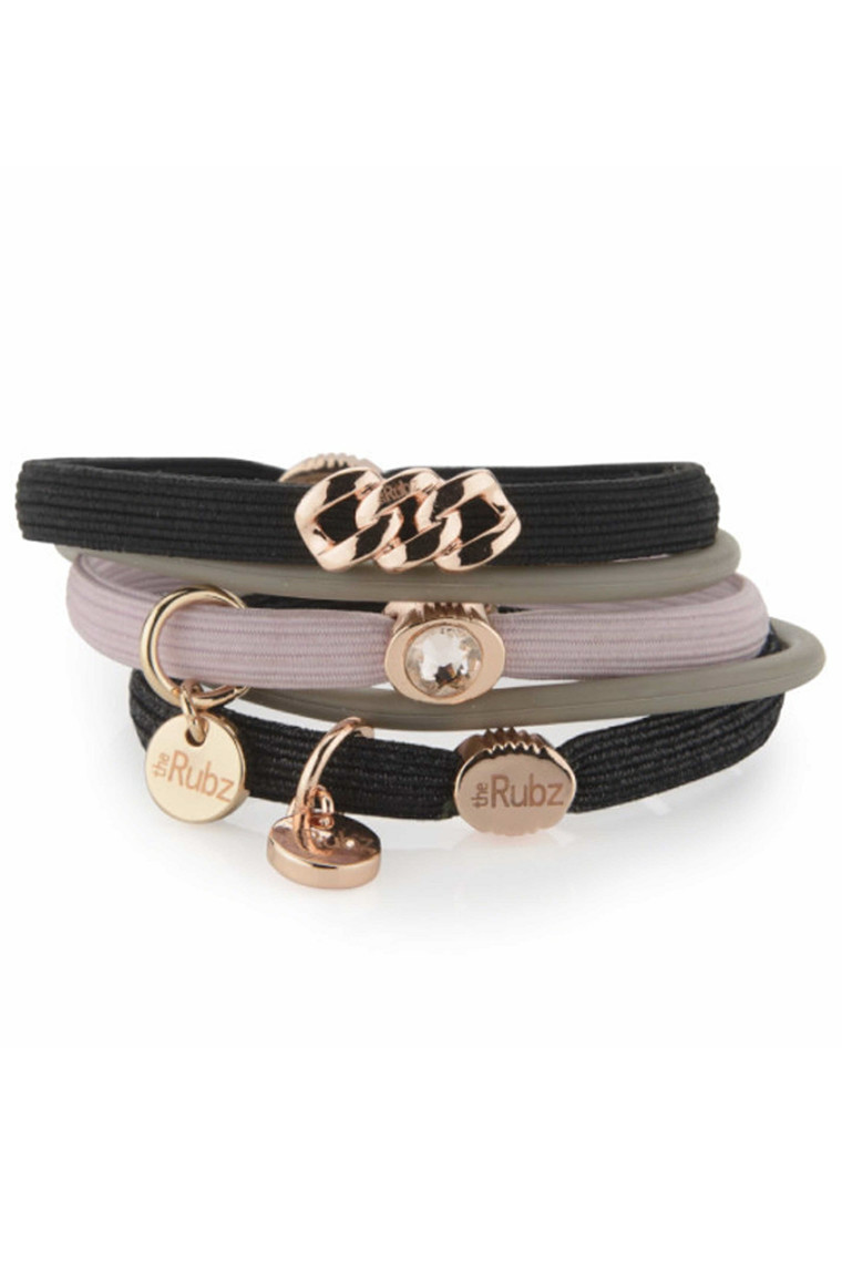THE RUBZ HAIR TIE SORT M/ROSE GULD