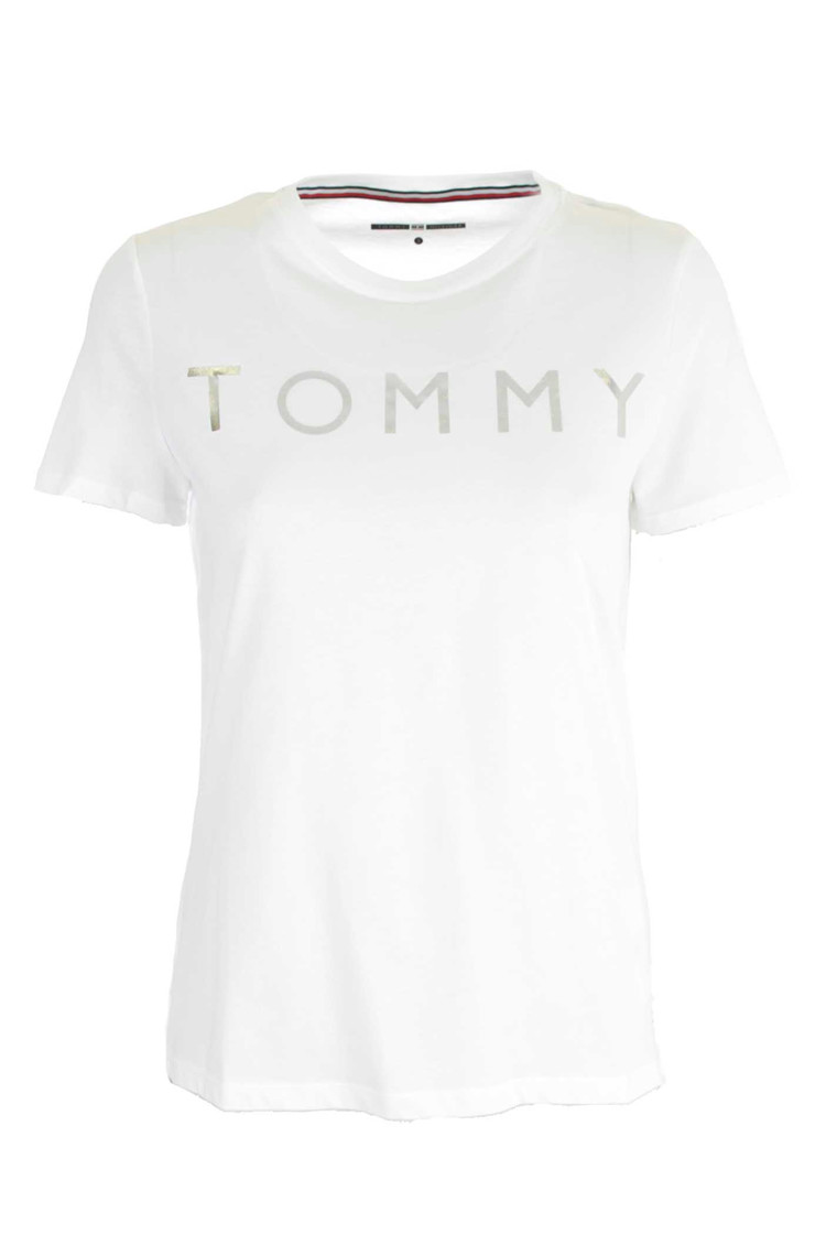 TOMMY HILFIGER TH ATH TOMMY PRINT HVID